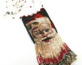 santa claus  ...  vintage artisan hand made   ...   micro beaded necklace