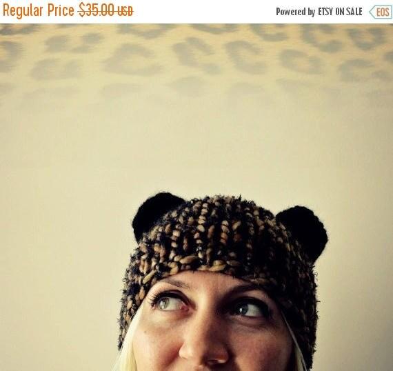 Sale Cat Ear Hat, Chunky Knit Ears Beanie, Bear Ear Hat, Cat Ear Beanie, Gift for Her, Womens Gifts, Gift for Daughter, Girlfriend, Ear Hat