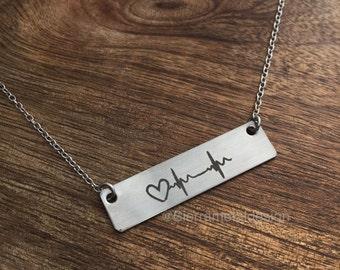 Nurse Gift Heart Beat Nurse Necklace Nursing Jewelry For a Nurse Gift RN Gift Nurse Gift for Medical Gift For Nurse For Medical Hospital
