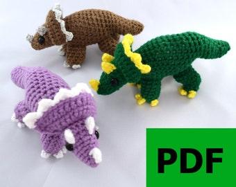 Miniature Triceratops Amigurumi/Plush Toy