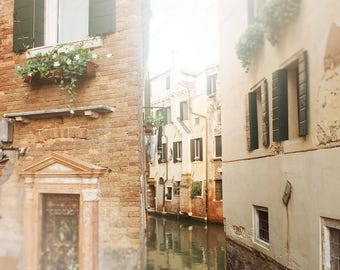 Venice Canals, Italy Photography, Landscape Art, Travel Photograph - Wall Art Print, Photos of Venice, Photographic Print, Italy Home Decor
