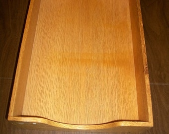 Vintage Wood Tray  Dovetailed Legal   Letter size  Industrial decor