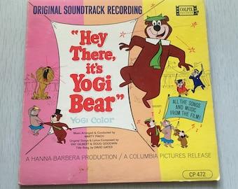 Vintage 1960s Yogi Bear Hanna Barbera children's vinyl record