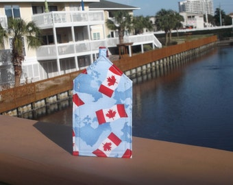 Canada Flag and Map Luggage Tag