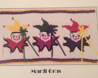 "Smocking plate ""Mardi Gras"" by Jeanne Rogers Womack"