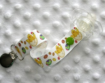 Easter Chick Eggs Soothie Pacifier Clip