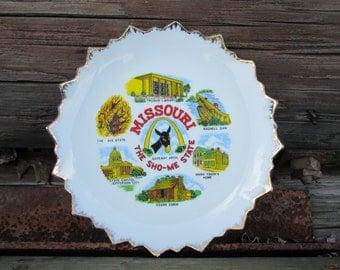 "Missouri State Plate Collectible Souvenir Decorative ""Sho-Me"" Show Me Misspelled Error?"
