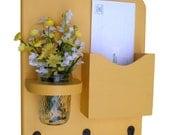 Mail Organizer - Letter Holder - Mail Holder - Key Hooks - Key Rack - Jar Vase - Organizer