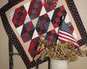 Americana square quilted table runner