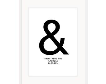 Ampersand Birth Poster