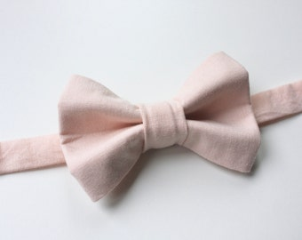 Little and Big Guy BOW TIE - Spring Easter - Blush Pink  - (Newborn-Adult) - Baby Boy Toddler Teen Man- Wedding