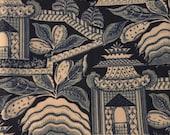 Vintage Pagoda Print Fabric