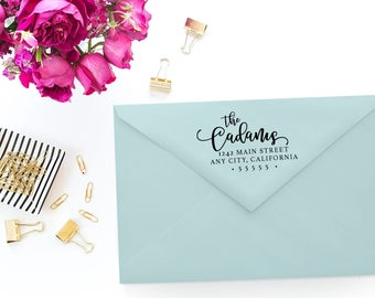Custom Return Address Stamp - Self Inking Rubber Stamp - Custom Stamp - Personalized Rubber Stamp - Return Address Stamp