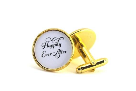 Groom Cufflinks, For My Groom, Anniversary Gift, Happily Ever After, Cufflinks for Groom, Gift from Bride, Wedding Cufflinks