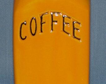 Coffee Jar, Tangerine, Retro