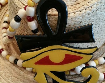 Ankh and Eye Tiki Necklace