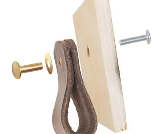 Drawer Pull Hardware Kit - Extra Parts for Leather Drawer Pulls