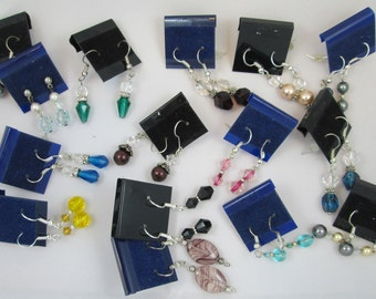 Handmade Earrings, Ready to Sell on Cards, 15 pairs