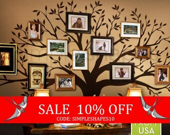 Sale - Tree Wall Decal, family Tree Wall Decal Sticker - Living Room Wall Decals - wall graphic