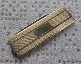 Vintage Pocket Watch Fob with Comb  and Manicure Tool GF