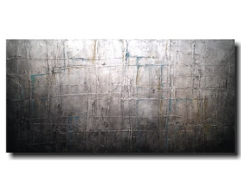 Large Original painting - 24 X 48 - Art by JMJartstudio- Approval  -Wall art-wall decor - Gray  painting-Oil painting- XXl Painting