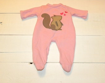 Pink Footed Sleeper - 16 - 17 inch doll clothes