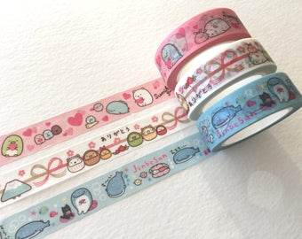 Sumikko Gurashi Masking Tapes at your choice for journaling, packaging, gift wrapping, party deco favor, scrapbooking, craft