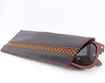 Leather Sunglass Case / Brown Leather / Leather Case for Glasses / Unisex Case