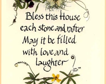 irish blessing card etsy