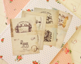 02 ANTIQUE Dailylike Stick & Sewing paper stickers