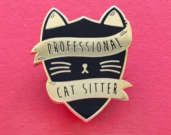 Cat Lady Pin - Hard Enamel Cat Pin - Shiel Pin - Prefect Pin - Head Boy Pin - Cat Sitter