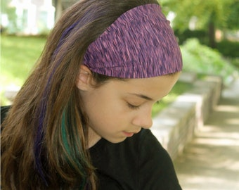 No Slip Headband, Purple Headwrap, Sport Hair Band, Running Headwrap, Purple Sweat Wicking Headband (#1211) S