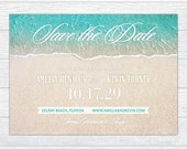 Beach Save the Date Card, Beach Save the Date Printable, Beach Save the Date Postcard, Beach Save the Date Magnet DIY Printing Save the Date