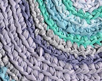 rag rug, Lilly Pulitzer bedding, kumari garden, lavender rug, crib bedding, crochet rug, shabby chic, rag rugs, round rug, girl crib bedding