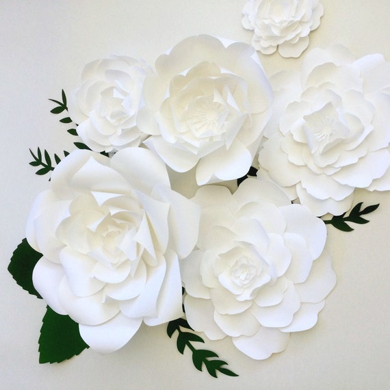 Large Flower Wall Decor : Paper flower wall decor ready to ship large