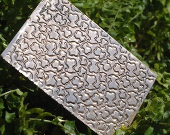 Copper Texture Metal Sheet  Bears Pattern 20g - 3 1/4 x 2 1/2 inches - Bracelets Pendants Metalwork