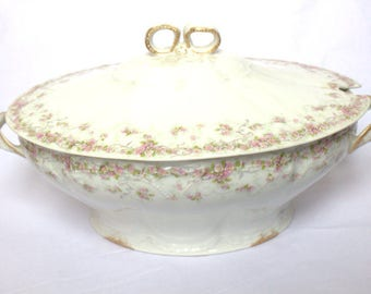 Theodore Haviland Limoges Floral Covered Casserole Dish