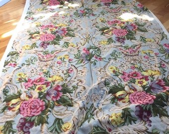 11 Yds Vintage Floral Fabric REDUCED Cottage Chic