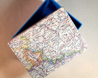 Vintage Luxemborg and the Saarland Map Box