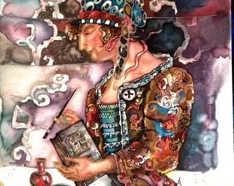 silk painting  named Restorer