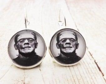 Frankenstein Lever Back Earrings