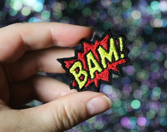 BAM Lapel Pin, Comic Tie Tack, Retro Style, Bride Groom