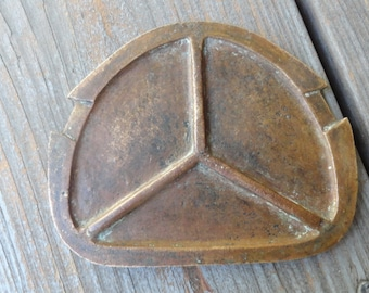 Vintage COPPER PLATE BMW Peace Sign What is It?