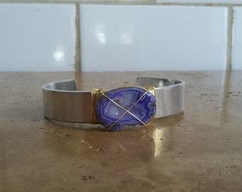 Purple Geode Slice Cuff