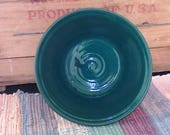 Spruce green handmade ceramic bowl - stoneware bowl - 24 oz bowl - pottery serving bowl - vegetable  serving bowl - kitchen bowl - grb01