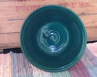 Spruce green handmade ceramic bowl - stoneware bowl - 24 oz bowl - pottery serving bowl - vegetable  serving bowl - kitchen bowl - grb01