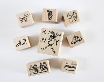 1 pc - Wood Stamp - Wooden Rubber Stamps - Rubber Stamps - Scrapbooking - Card Making - Ready to Ship