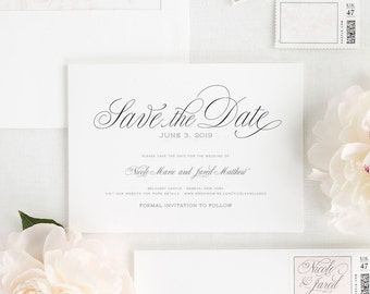 Garden Script Save the Date - Deposit