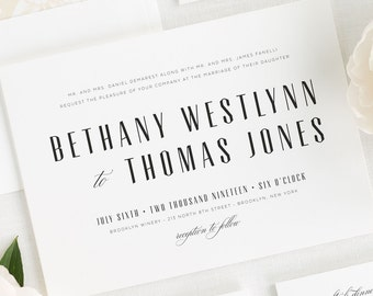 Mid Century Romance Wedding Invitations - Deposit
