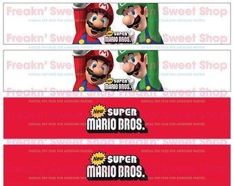 Super Mario Bros Bottle Wrap PDF file (Version 2)